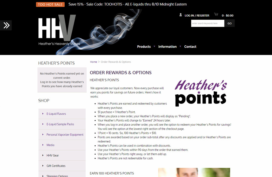 Heather's Heavenly Vapes Reward Points