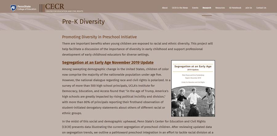 CECR PSU Research PreK page